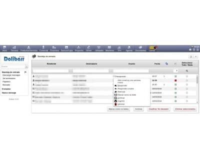 Módulo 2Webmail 3.9 listado emails