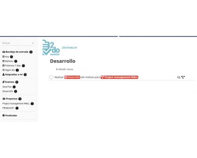 Módulo 2DoTaskList - Tipo de evento