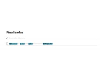 Módulo 2DoTaskList - Tareas finalizadas