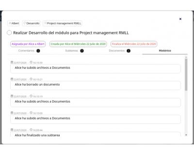 Módulo 2DoTaskList - Ventana emergente (histórico)